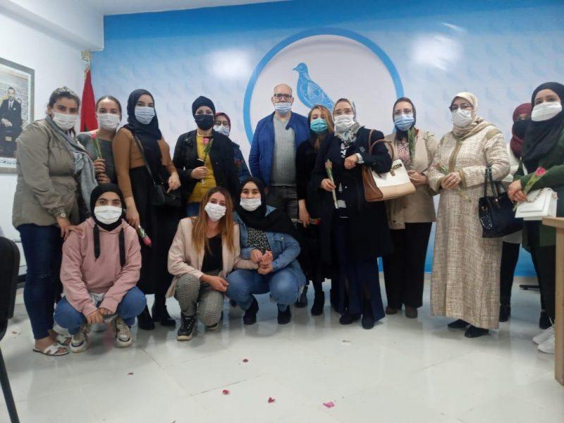 """المكتب المحلي لـ""""الأحرار"""" بمدينة الحسيمة ينظم لقاءً تواصلياً احتفالاً باليوم العالمي لحقوق المرأة"""