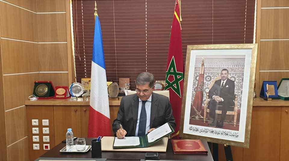 """حافيدي يوقع اتفاقية لتجديد التعاون بين جهتي سوس ماسة و """"أكتيان"""" الفرنسية"""